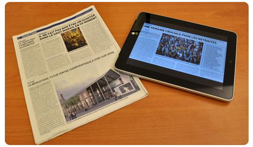 Comparaison lecture journal/iPad
