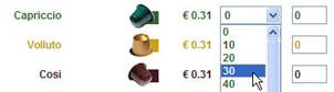 Quantité capsules nespresso