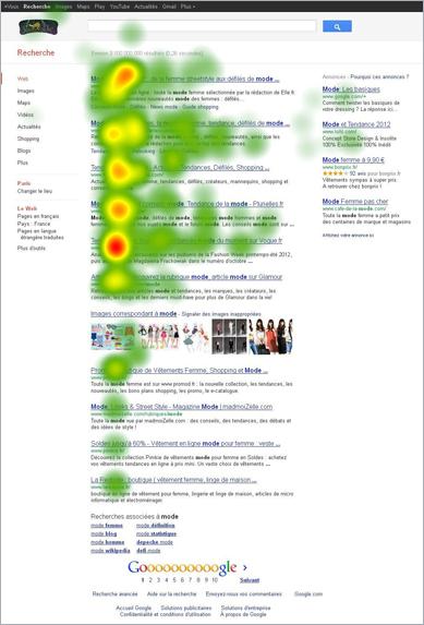 Heatmap 2 résultats Google avec liste d'images