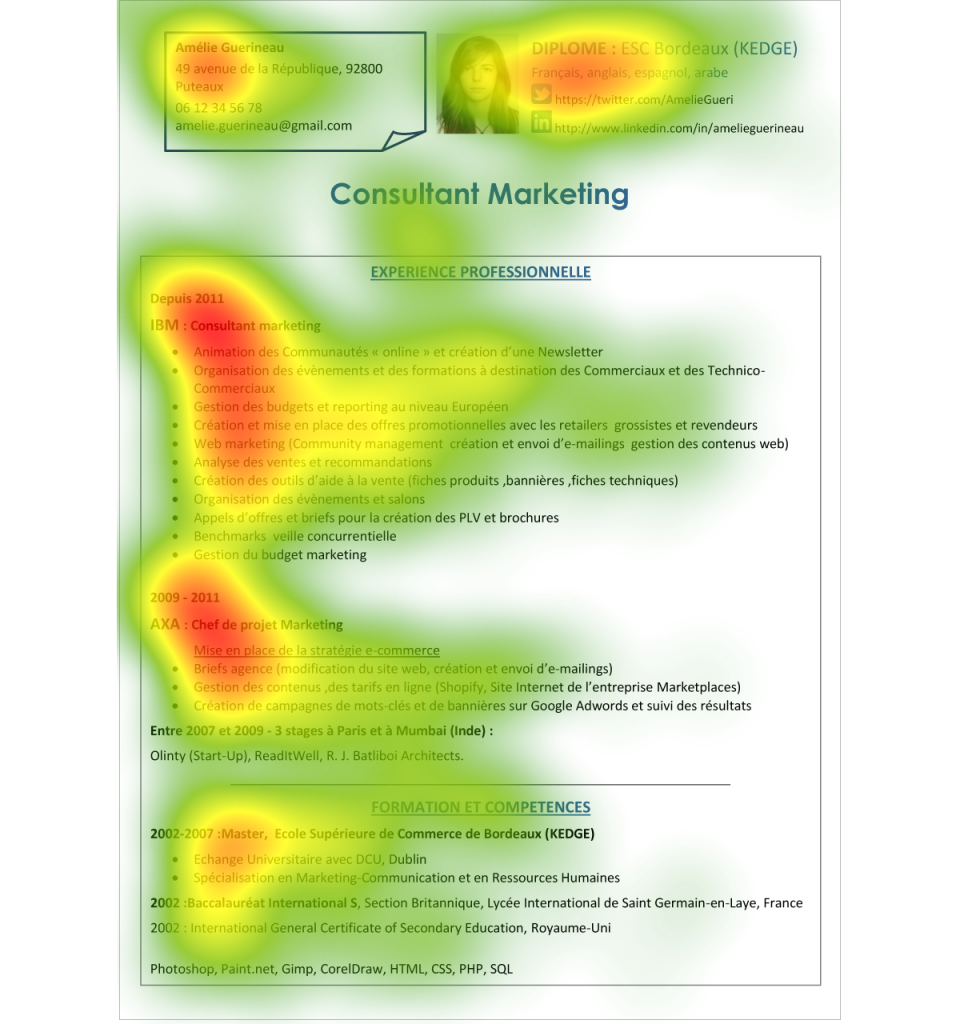 resume Resume Eye Tracking resume eye tracking ideas naturellement les informations situes gauche sont plus lues
