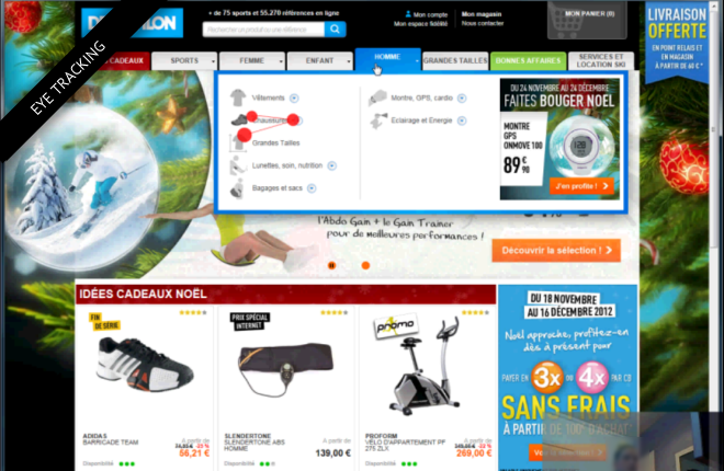 Decathlon eyetracking