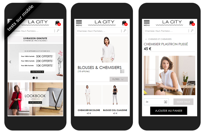 Tests utilisateurs mobile - La city