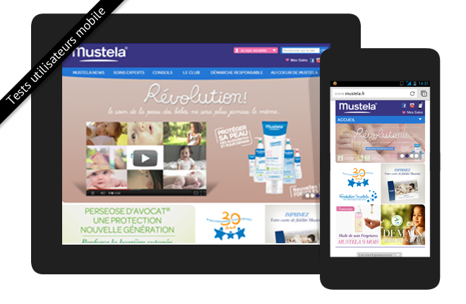 Tests sur mobile Mustela