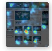 carte de chaleur des endroits vus par les utilisateurs