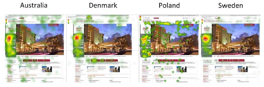 Heatmap moteur de recherche suivant le pays