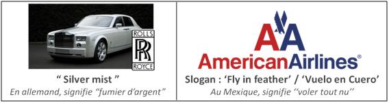 Exemple de slogans ratés