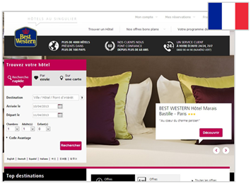 Site BestWestern France